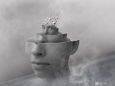 psychologie humaine : des têtes sont représentées comme des poupées russes